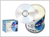 Sony Dvd 10 And 100 Packs