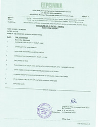 EEPC India Certificates
