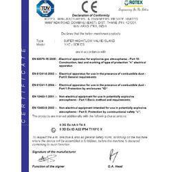 CE Certificate of Valve Island