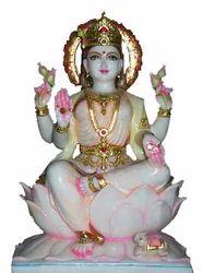 LA-1034 Marble Statue Of Laxmi