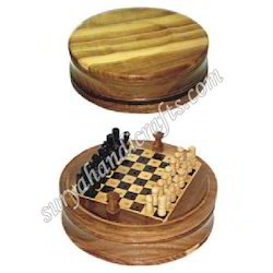 Wooden Chess With Round
