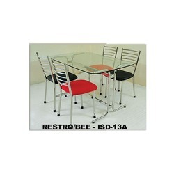Red-Black Seat SS Dinning Set