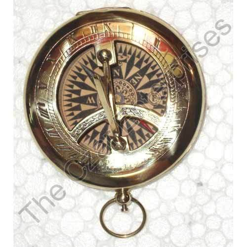 Trustful Hand Watch Sundial And Compass Vintage Marine Brass Antique Collectible Maritime Compasses Antiques