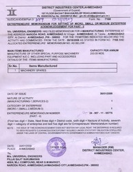 MSMED Certificate