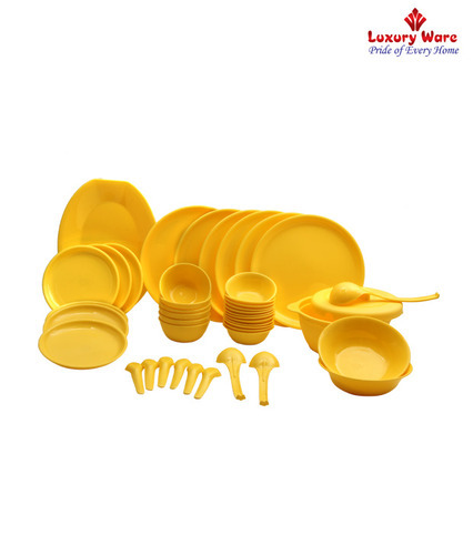 Royal Touch Multicolor Yellow Dinner Set, Microwave Safe: Yes