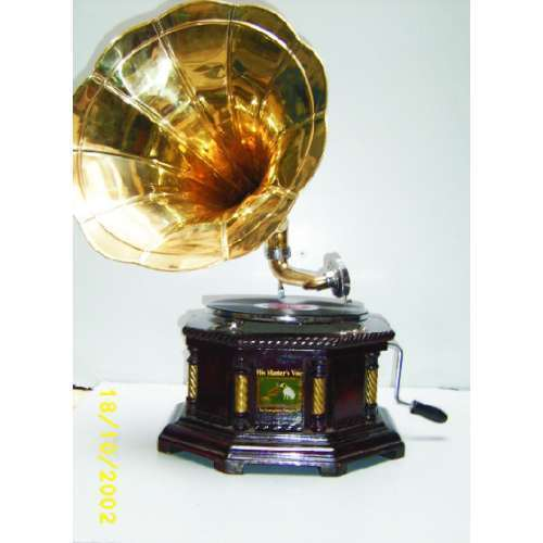 Antique Brass Gramophones