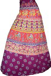 Printed Wrap Around Skirts