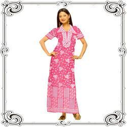 Women s Night Wear - Girls Maxi Night Dress Exporter from Mumbai 3a0666cb6