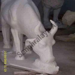 White Cow Statue