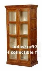 Antique Reproduction Bookshelf Curio Cabinet