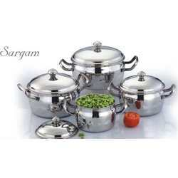 Stainless Steel Serving Pots Set