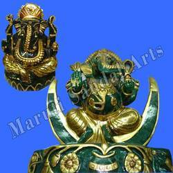 Semi Precious Green Aventurin Ganesha