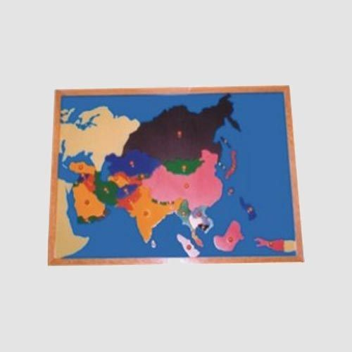 Asia map puzzle view specifications details of montessori puzzle asia map puzzle gumiabroncs Image collections