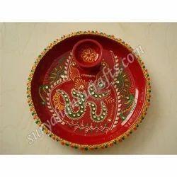 Meena Painting Aarti Thali