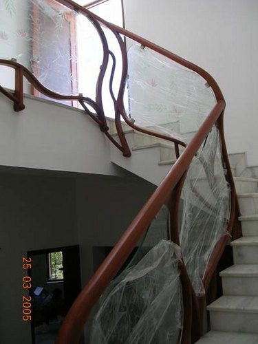 Tinted Glass Staircase