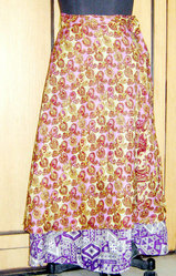 Viscose Long Vintage Silk Sari Skirt