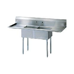 Grey Two Sink Unit