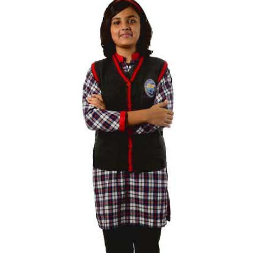 760a4e6d0381f Cotton K V Girls Winter Uniforms, Size: Large, Rs 400 /piece   ID ...