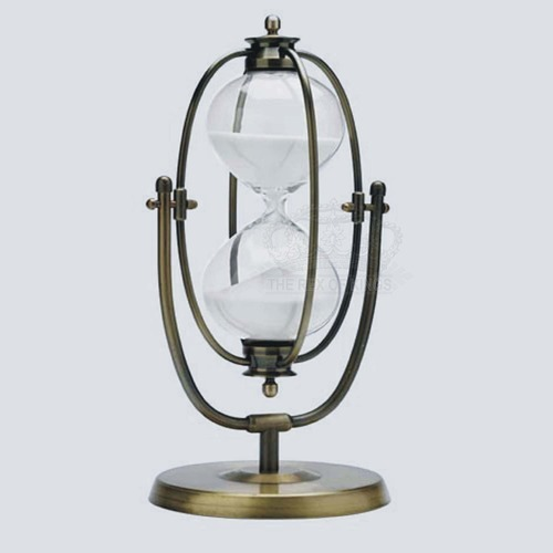 Brass Flip- Over Hourglass Timer 13-Inch 60 Minute - The Rex