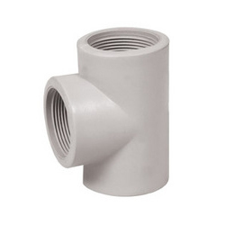 PP Socket Weld Threaded Tee