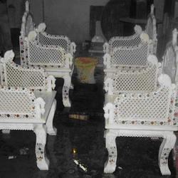 White Marble Chairs