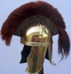 Roman Cavalier Helmet In Brass