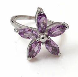 925 Sterling Silver Genuine Tanzanite Ring