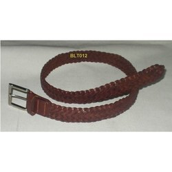 Casual Braided Leather Belt