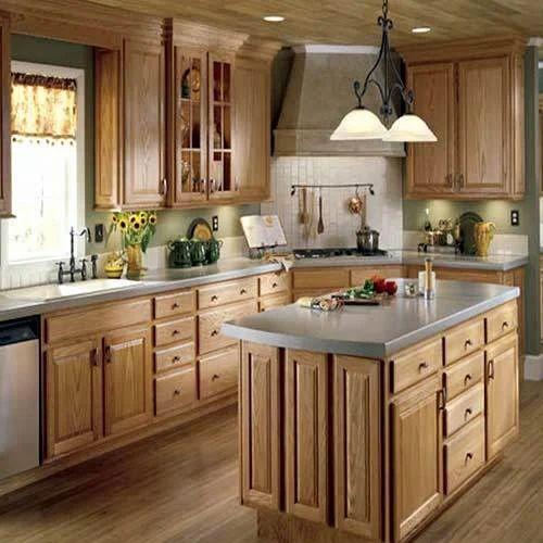 L Wooden Modular Kitchen Manufacturer: Wooden Modular Kitchens