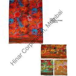 Fashionable Printed Silk Shawl