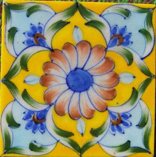 Home Decor Blue Pottery Tiles At Rs 50 Piece S Ram Nagar