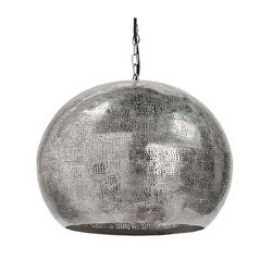 Perforated Metal Sphere Pendant