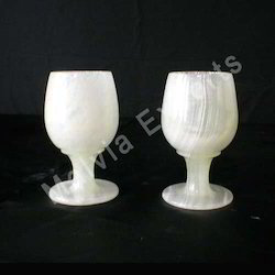 White Marble Goblets