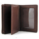 Double Folding Leather Card Case