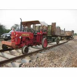 Ballast Leading on New Railway Track