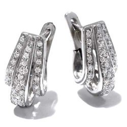 Earrings in White 18-karat Gold