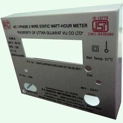 Energy Meter Plates Label