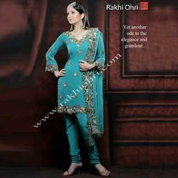 Mirror and Zari Embroidery Suits