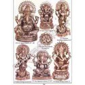 Brass Takiya Appu Ganesh With Round Sitting Ganesh