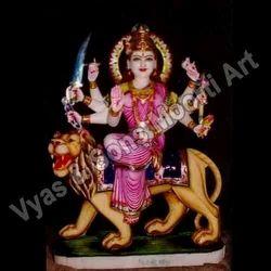 DU-0006 Goddess Durga Marble Statues