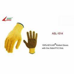 Kevlar Knitted Gloves-Dark Yellow