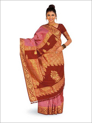 ca8edd55fc Golden Rust Pure Silk Saree - View Specifications & Details of Pure ...