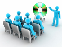 Interactive CD Presentation Services