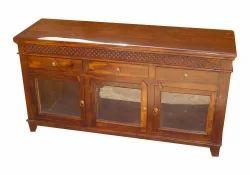 Stylish Wooden Glass Cabinet INSC05