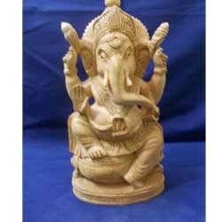 Wooden Vinayak Ganesh