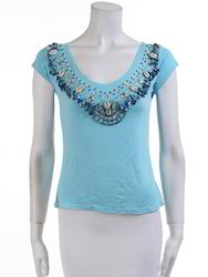 Round Neck Party Wear Ladies Sequin Tops