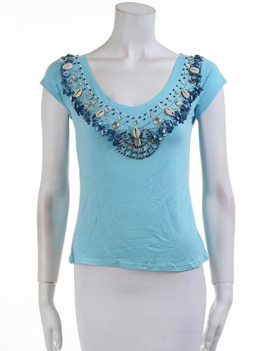 669bef79710d56 Round Neck Party Wear Ladies Sequin Tops