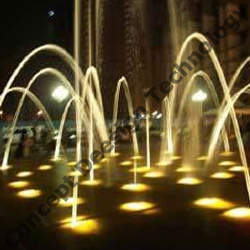 Interactive Water Fall Fountain