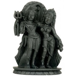 Shiva and Parvati Sculpture