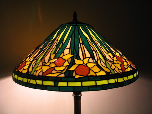 Decorative tiffany lamp shade and original stained glass product image read more tiffany lamp shade narcissus flower mozeypictures Image collections